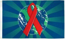 """New listing """"World Aids Awareness"""" 3x5 ft flag polyester"""