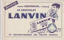 BUVARD ANCIEN PUBLICITAIRE-CHOCOLAT- LANVIN DIJON-N°7-L'OISEAU BLANC-CROKENLER