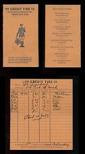 1926 CREDIT TIRE COMPANY Personnal Pocket Service Card Traffic Cop with Flag