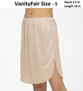 Vanity Fair S/18, Nude Static Free Invisibly Smooth Half Slip New