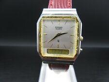 "O809 ⭐⭐ Vintage  "" Citizen Dual Time "" Quartz Digital Armbanduhr  ⭐⭐"