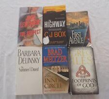 Lot of 6 Mystery and Suspense Books Greg Iles C.J. Box Brad Meltzer +