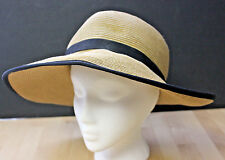 Womens Beach Hat Cap Sun and Sand Quality Woven Straw Split Back