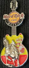 Hard Rock Cafe MADRID 2017 Silver Horse 3-D Guitar PIN - LE 350! - HRC #94421