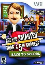 Are You Smarter Than a 5th Grader Back to School (Nintendo Wii, 2010)