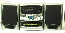 Sharp CD-C622 Mini Component Stereo 3 CD Changer Dual Cassette AM FM
