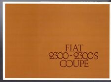 Fiat 2300 Coupe 1962-64 UK Market Sales Brochure N S