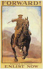 Forward! WWI  recruiting poster Lucy Kemp Welch 11 x 14 inch ready mounted print