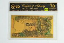 Malaysia Gold Banknote RM50 New