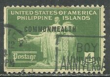U.S. Possession Philippines stamp scott 434 - 4 cent 1940 issue - used