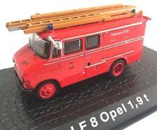 Firefighters LF 8 OPEL 1.9 T Fire Truck 1:72 Diecast Ixo Atlas