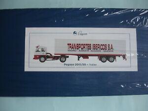 PEGASO 2011/50 TRAILER TRANSPORTES IBERICOS S.A. -SALVAT, ESCALA 1/43