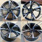 18X8 +35 5X112 AUDI RS7 STYLE BLACK MACHINED FACE WHEELS RIM VW AUDI ( SET OF 4