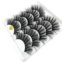 Natural  Fluffy False Eyelashes 3D Faux Mink Hair Eye Lash Extension Crisscross