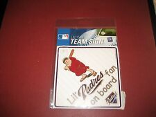 MLB SAN DIEGO PADRES Lil Fan on Board Signs WINDOW CLING  BRAND NEW