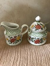 Vintage Villeroy & Boch summerday Lidded Sugar Bowl and Creamer Set