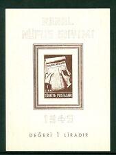 TURKEY 1945, THE CENSUS, SC# 933, SOUVENIR SHEET MNH, CV$75.00, 218