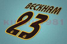 Real Madrid Beckham #23 2003-2005 Homekit Nameset Printing