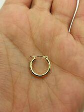 10k Yellow Gold High Polish Tube Hoop Earrings 2mm x 15mm