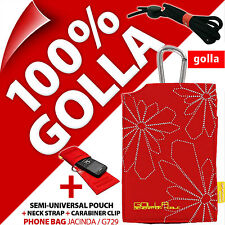 Golla Red Phone Case Bag for iPhone 4 4s 5 5s 5c Samsung Galaxy S2 S4 Mini
