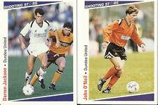 13 x DUNDEE UNITED SHOOTING STARS Cards - MERLIN Publishing Ltd 1991/2 FOOTBALL