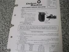 1963 CORVETTE WONDERBAR AM RADIO DELCO ELECTRONIC BULLETIN ORIGINAL!