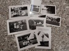 1950S  GIRLS CAMPING A GROUP  OF PHOTOS  AS ONE LOT   (8)