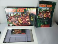 Donkey Kong Country (SNES 1994) Super Nintendo - Complete in Box - TESTED V Good