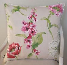 Kissen Kissenhülle Mirabell 60x60 Blumen Blüten Fingerhut rosa rot grün Proflax