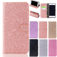 Glitter Magnetic Flip Leather Wallet Stand Case Cover For iPhone 5 6 7 8 Plus X