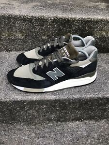 NEW BALANCE 998 PREMIUM BLACK OLIVE TRAINERS SZ UK 9 CASUAL MADE IN USA 1500 577