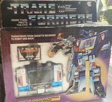 Boxed G1 Transformers Soundwave & Condor Cassette: Buzzsaw 1984 Action Figures