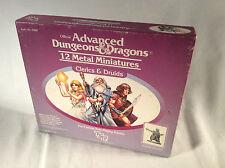 AD&D Advanced Dungeons & Dragons CLERICS & DRUIDS 12 Metal Miniatures Box Set