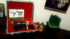 Vintage Super 8 Focal 500 Movie Camera in Hard Case with Key, Strap, and Manual