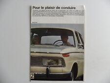 Brochure BMW pour le plaisir de conduire de 10 / 1966 en français