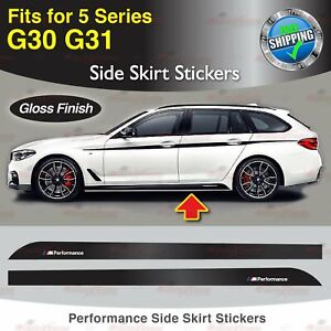 Für BMW G30 G31 5er Performance Seite Schweller Türleiste Aufkleber Grafik GLANZ