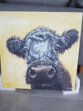 Cow picture, canvas print Animal Wall Art Picture by Amelia Rose. 60cm x 60cm