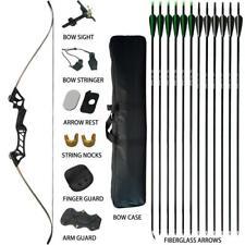40lb Archery Takedown Recurve Bow Fiberglass Arrows Set Rh Hunting Beginner