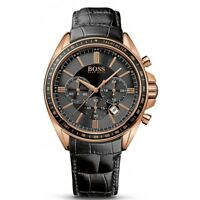 HUGO BOSS MENS DRIVER CHRONOGRAPH WATCH HB1513092  BLACK DIAL LEATHER, RRP £299