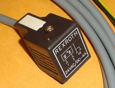 Rextroth Penumatic Solenoid Valve Cable 10 foot Long 3450440700