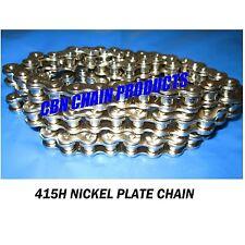 415H Motorized Bike Chain, 415H x 120 Nickel Plate Chain,  WOW
