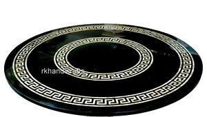 60 Inches Marble Dining Table Top Elegant Pattern Conference Table for Office