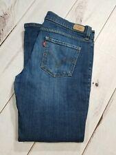 """LEVI'S Distressed Boyfriend Stretch Dark Wash Jeans Women Sz 13 Inseam 28"""""""