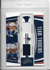 2007 Playoff Absolute Team Tandems Dual Jersey Tom Brady Laurence Maroney #/100