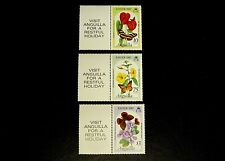 Anguilla 1982 Easter MNH with Tab  Flowers and Butterflies