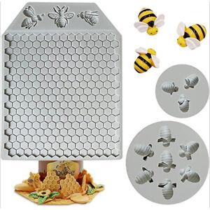 Honeycomb Bee Silicone Mold Sugarcraft Chocolate Cupcake Fondant Cake Tools Y4