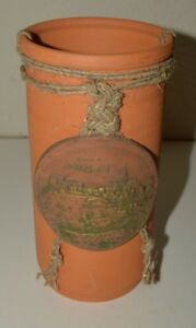 Nice Vintage Grad Buzet Istria Croatia Pottery White Wine Bottle Chiller Holder