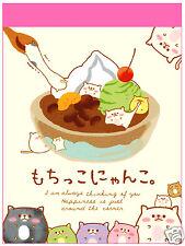 Crux Mochikko Nyanko Parfait Kawaii Mini Memo Pad