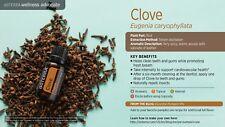 doTERRA Clove Essential Oil 15ml + Bonus Roller Bottle  & Vege Caps *