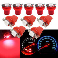 10Pcs Red LED B8.5D T5 SMD Car Gauge Instrument Dashboard Cluster Light Bulb 12V
